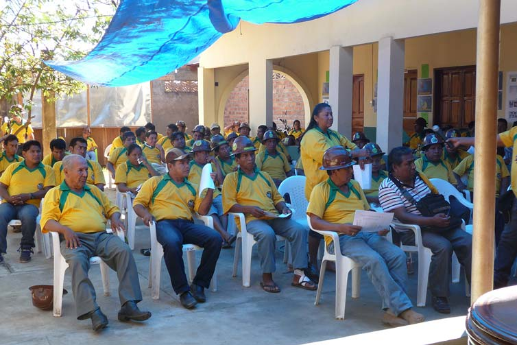 General Meeting of the associates of the Asobal Mining Cooperative, Riberalta, 2013. Photograph by M. de Theije