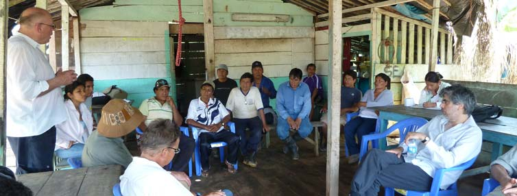 GOMIAM Meeting at the APAYLOM Miners association in Madre de Dios, Peru. 2012. Photograph by M. de Theije